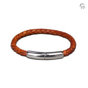 FPU 603 Embrace Pulsera cuero trenzado marrón