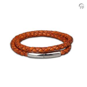 FPU 605 Embrace Pulsera cuero trenzado marrón