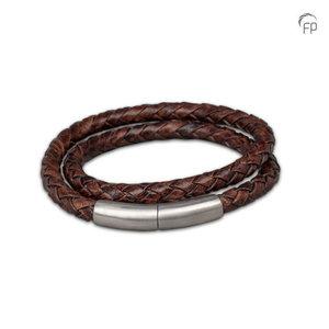 FPU 606 Embrace Pulsera cuero trenzado negro