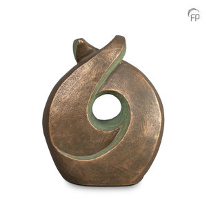 Geert Kunen  UGK 009 B Urna de cerámica bronce