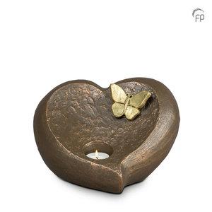 Geert Kunen  UGK 082 BT Keramische urn brons Onontkoombaar afscheid