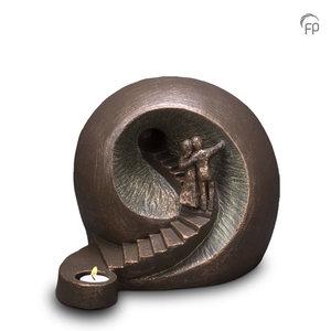 Geert Kunen  UGK 041 DT Ceramic urn bronze