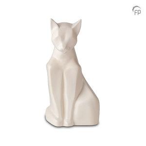 Mastaba Ceramika KU 162 Urna de mascota de cerámica gato mate