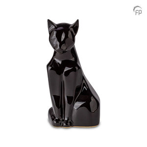 Mastaba Ceramika KU 163 Urna de mascota de cerámica gato brillante
