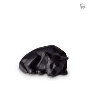 Mastaba Ceramika KU 165 Urna de mascota de cerámica gato mate