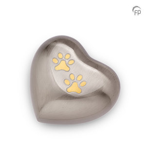 HUH 015 M Metal pet urn heart medium