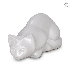 Terrybear HU 267 Metal dierenurn kat wit