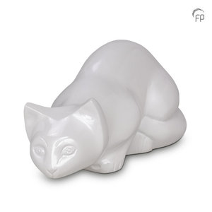Terrybear HU 267 Metal pet urn cat white
