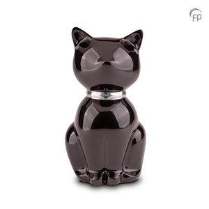FPU 206 Urna de mascota de metal Nuna negro