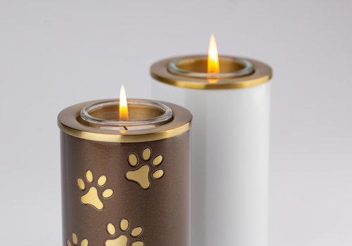 Candle holder pet urns