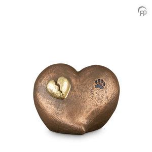 Geert Kunen  UGK 203 Keramische dierenurn brons