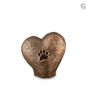Geert Kunen  UGK 205 Keramische dierenurn brons