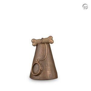 Geert Kunen  UGK 206 Keramische dierenurn brons