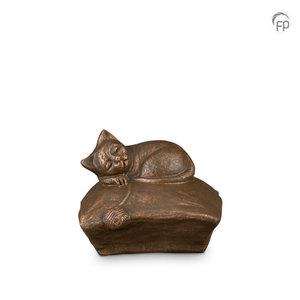 Geert Kunen  UGK 211 Keramische dierenurn brons