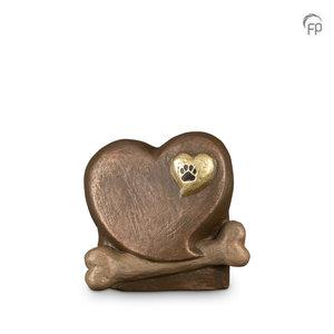Geert Kunen  UGK 212 Keramische dierenurn brons