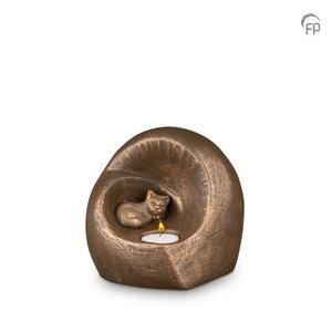 Geert Kunen  UGK 214 Keramische dierenurn brons