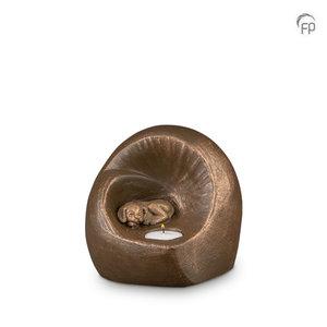 Geert Kunen  UGK 216 Keramische dierenurn brons