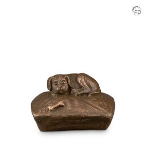 Geert Kunen  UGK 218 Keramische dierenurn brons