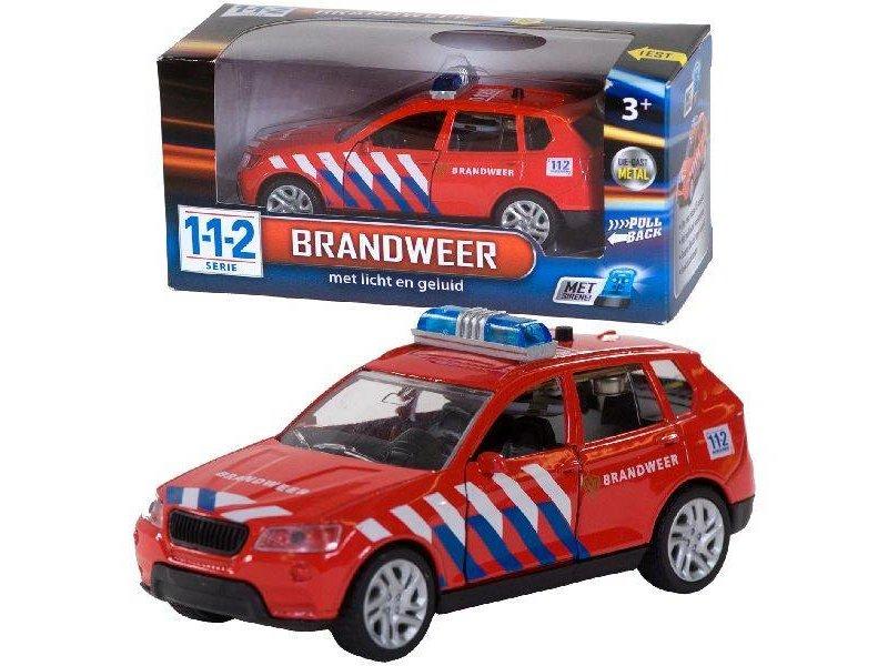 112 Brandweerauto met licht en geluid 1:43