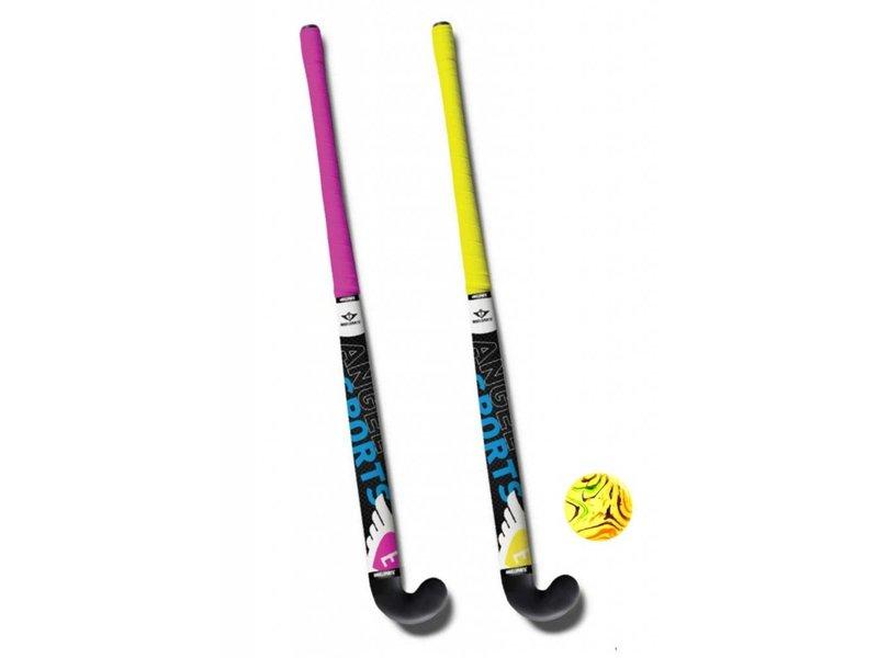 Angel Straat-indoor hockeyset 33q(2 stuks)