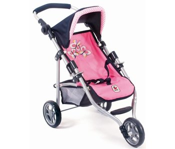 Bayer Chic Joggingbuggy roze/blauw