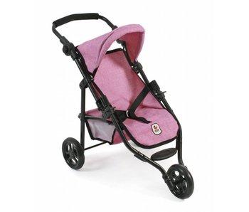 Bayer Chic Poppenbuggy jogging Lola (jeans roze)