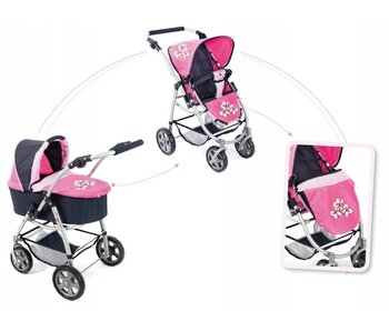 Bayer Chic Poppenwagen 2-in-1 paars