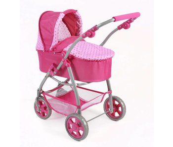 Bayer Chic Poppenwagen 2-in-1 roze