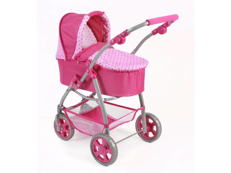 Bayer Chic Poppenwagen 2-in-1 roze