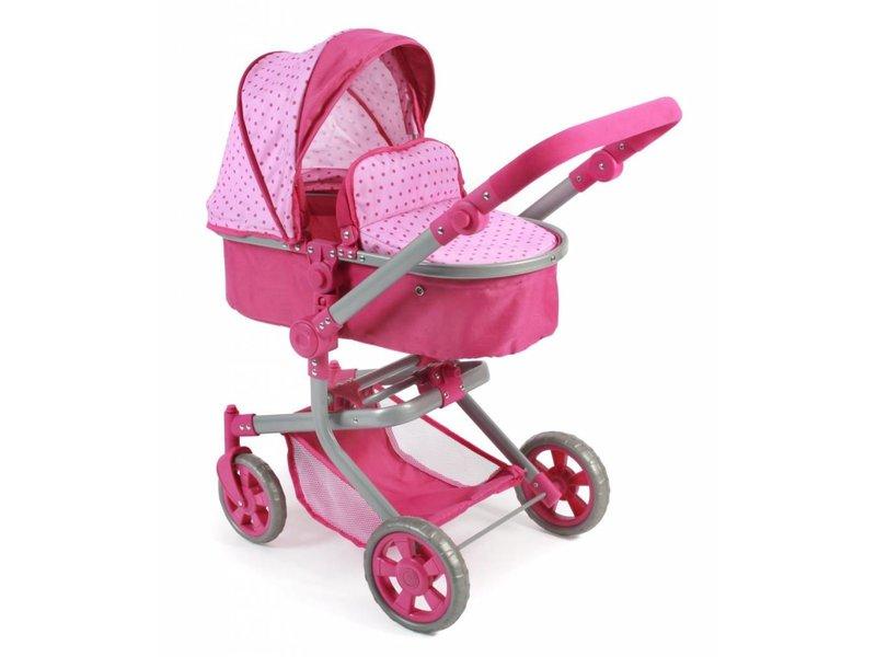 Bayer Chic Poppenwagen Mika combi roze