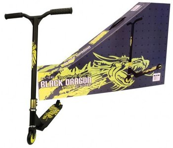 Black Dragon Stuntstep Scooter Zwart Lime