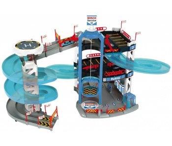 Klein  BOSCH Garage (3-decks, toren + 2 autos)