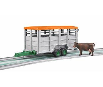 Bruder 2227 - Veetransportaanhanger met koe