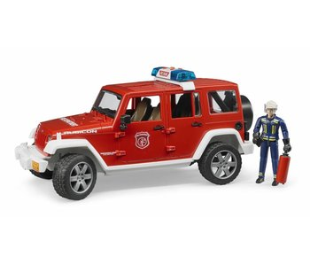 Bruder 2528 Jeep Wrangler brandweer + speelfiguur