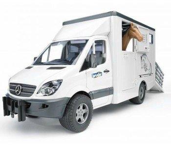 Bruder MB Sprinter veetransport met 1 paard