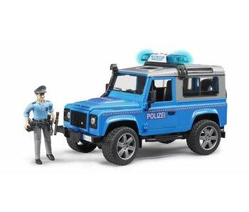 Bruder 2597 - Land Rover Politieauto + speelfig. + acc.