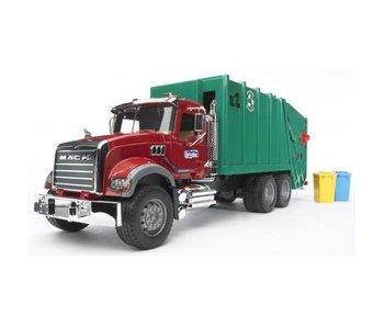 Bruder 2812 MACK-Granite vuilnisauto rood/groen