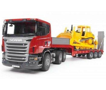 Bruder 3555 - Scania dieplader met Caterpillar Bulldozer