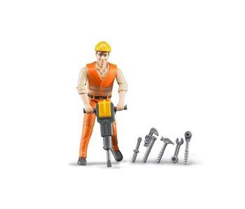 Bruder 60020 - Wegwerker met accessoires