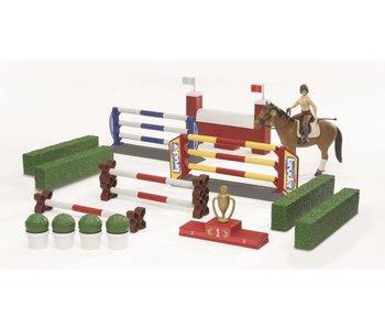 Bruder 62530 - springparcours met paard en Amazone
