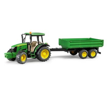Bruder John Deere tractor 5115 M + kieptrailerBF2108