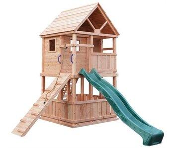 Woodvision Douglas speeltoestel Bonobo Groen geimpregneerd Excl. glijbaan