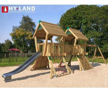 Hy-land Speeltoestel Q4-S RVS Glijbaan