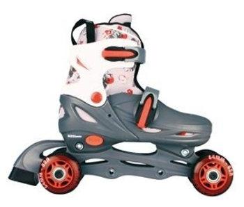 Inline Skates Quad Grijs Maat 27 - 30