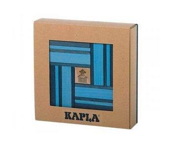 Kapla Kapla, boekje + 40 licht- en donkerblauwe plankjes