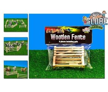 Kids Globe houten hekken 6dlg.1:32