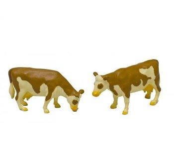 Kids Globe koeien vlekvee staand 2 st. 1:32