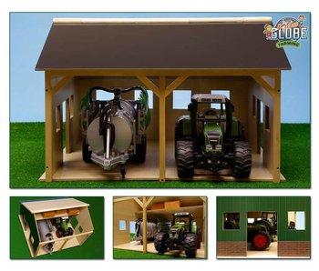 Bruder Kids Globe loods voor 2 Bruder tractoren