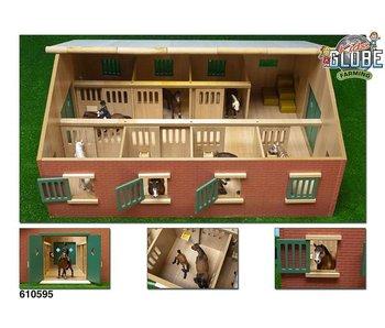 Kids Globe Paardenstal met boxen 1:24