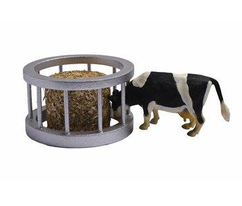 Kids Globe voederring met ronde baal en koe